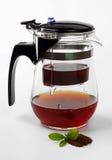 Стеклянный чай Infuser/стрейнер Стоковые Фотографии RF
