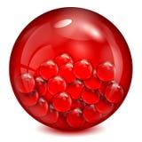 Стеклянный шарик красного цвета Иллюстрация штока