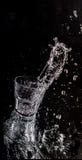 стеклянный splash water Стоковое Изображение