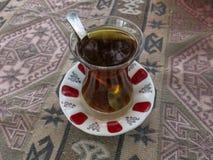 стеклянный turkish чая Стоковое фото RF