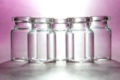 5 стеклянных бутылок Стоковые Изображения RF