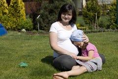 стельность мати младенца Стоковое Изображение