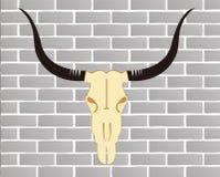 стена Œbrick ¼ ï черепа скотин Стоковая Фотография RF