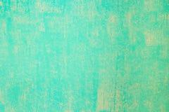 Стена аквамарина покрашенная с текстурированным роликом краски Стоковое Изображение