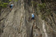 стена альпинистов Стоковые Фото