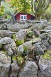 стена амбара красная каменная Стоковые Изображения RF
