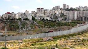 стена банка израильская западная сток-видео