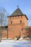 стена башни России novgorod kremlin veliky Стоковые Изображения RF