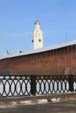 стена башни kremlin detinets Стоковое фото RF