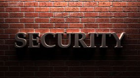Стена безопасностью Стоковое Изображение RF