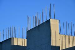 Стена бетона армированного стоковое изображение rf