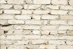 Стена белого кирпича Текстура, предпосылка, старый кирпич Стоковые Изображения