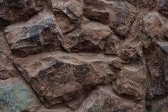 Стена больших грубых камней Стоковое Фото