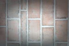 Стена больших каменных блоков Большие кирпичи Пустая предпосылка с виньеткой Стоковые Фотографии RF