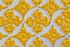 Стена Будды тайской конструкции картины типа Стоковые Фото