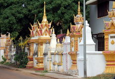 Стена буддийского монастыря стоковое изображение