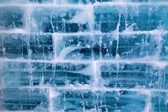 Стена блока льда Стоковое Изображение