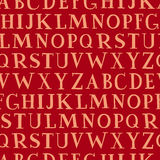 стена вектора алфавита безшовная Стоковые Изображения