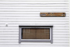 Стена венецианских шторок Windows деревянная белая Стоковое Изображение