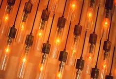 Стена винтажных ламп Стоковая Фотография RF