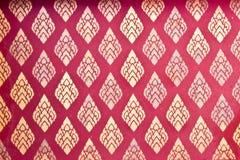 стена виска искусства тайская Стоковая Фотография
