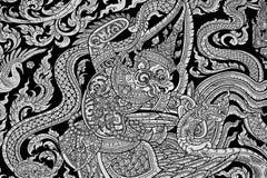 стена виска картины искусства тайская Стоковые Фото