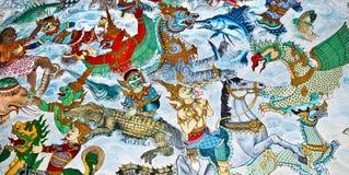 стена виска картины искусства Стоковые Изображения