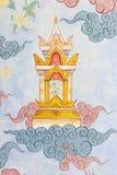 стена виска типа картины искусства тайская традиционная Стоковая Фотография RF
