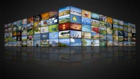 стена видео 100 экранов бесплатная иллюстрация