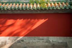 Стена дворца музея дворца Пекина стоковые фото