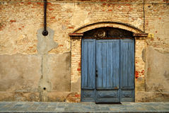 стена входа кирпича Стоковая Фотография