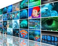 Стена высокотехнологичная Стоковые Фото