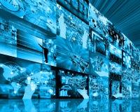 Стена высокотехнологичная Стоковые Изображения
