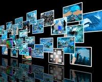 Стена высокотехнологичная Стоковые Фотографии RF