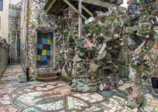 Стена в волшебных садах Исаией Zagar, Филадельфией Стоковое Изображение RF