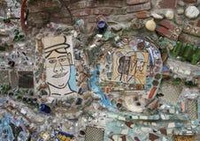 Стена в волшебных садах Исаией Zagar, Филадельфией Стоковое Изображение