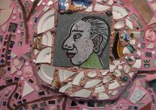 Стена в волшебных садах Исаией Zagar, Филадельфией Стоковая Фотография RF