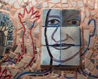 Стена в волшебных садах Исаией Zagar, Филадельфией стоковые фотографии rf