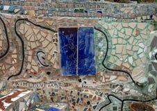 Стена в волшебных садах Исаией Zagar, Филадельфией Стоковое фото RF