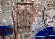 Стена в волшебных садах Исаией Zagar, Филадельфией Стоковое Фото