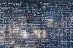 Стена влюбленности в Париже Стоковые Фотографии RF