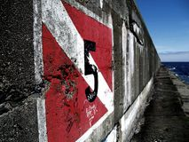 стена гавани Стоковое Изображение