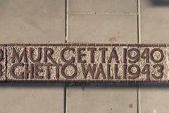 Стена гетто Варшавы Стоковая Фотография RF