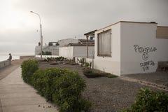 стена голубой надписи на стенах реалистическая Стоковое Фото