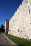 Стена города Иерусалима Стоковые Фотографии RF
