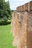 Стена городка Варшавы старая стоковое изображение