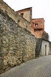Стена города в Bardejov Словакия Стоковые Фотографии RF