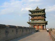 Стена города Pingyao стародедовская Стоковые Изображения
