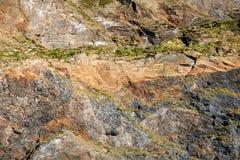 Стена горы в Исландии стоковые фотографии rf