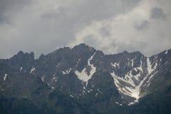 Стена горы Snowy стоковая фотография